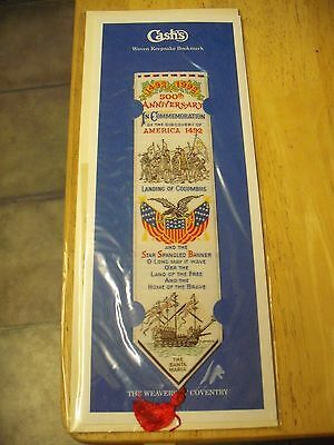 Cashs Woven Bookmark Original Packaging Discovery of America 500th Anniversary