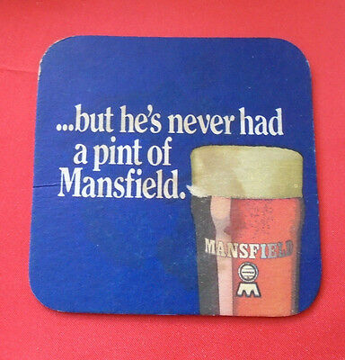 Sous Bock Vintage Sous Verre Ancien Mansfield But He's Never Had A Pint Of Mansf