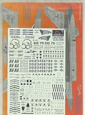 Astra Decals 7208 F-16C Falcon USAFE Aviano decals in 1:72 Scale