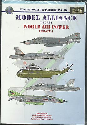 Model Alliance Decals 72189 F-4E Phantom SH-3 Seaking F-18 decals in 1:72 Scale