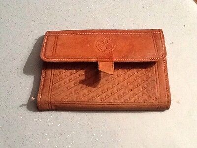 very old real leather wallet