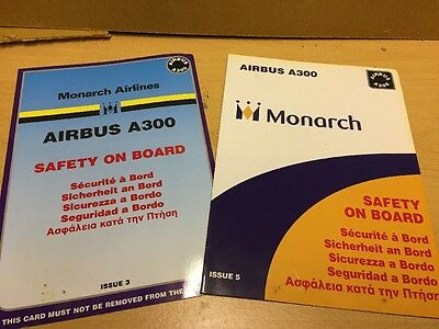 2 Airbus A300 Airline Safety Cards