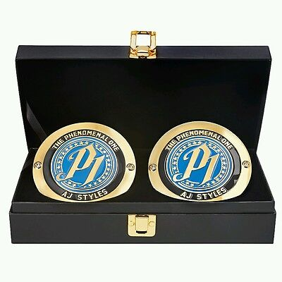 Aj styles side plates for wwe championship