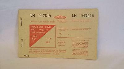 Motor Fuel Ration Book upto 1100 cc dated 1973