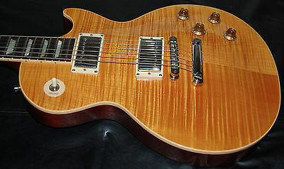 2005 Gibson Les Paul Standard Killer Flametop Trans-Amber OHSC 60's Neck PLAYER!