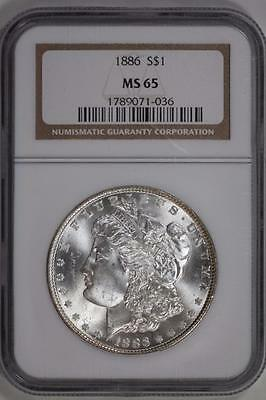 1886 Morgan Silver Dollar MS65 NGC United States Mint $1 Coin