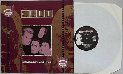 THE CULT She Sells Sanctuary - Long Version (Beggars Banquet BEG 135T) NM