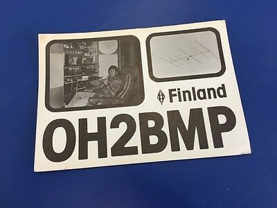 Vintage QSL Ham Radio Card - 1977 - OH2BMP - Finland To UK