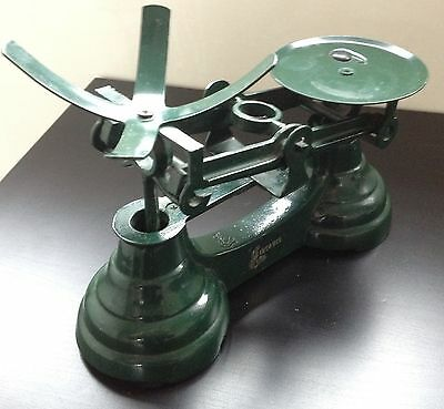 Vintage Librasco Green Cast Iron Weighing Scales Kitchen Balance *BASE ONLY*