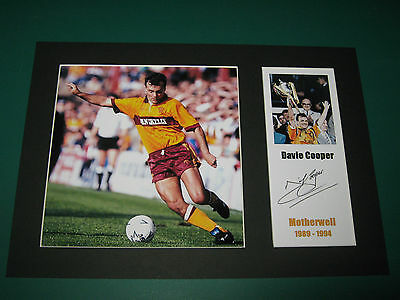 Davie Cooper Motherwell A4  Photo Mount Signed Reprint Autograph
