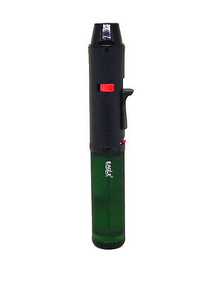 Eagle Torch Pen Lighter Torch Flame Green Refillable Lockable NEW