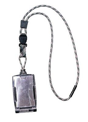 EK USA FIPS 201 One Hander ID Card Holder with Lanyard Pewter, New
