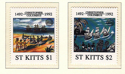 St Kitts 1992 Columbus Pair UM Cat £5.25