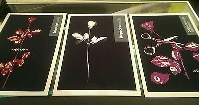 Depeche Mode set of 3 A3 prints heavy canvas paper , unavailable elsewhere