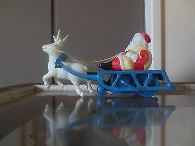 Excellent Wind Up Celluloid Santa From Occupied Japan/working Condition
