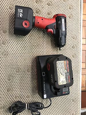 Snap-on Cordless 14.4v 3/8 Impact CT4410A W/2 Batteries, Charger