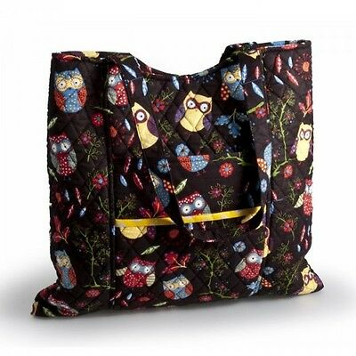 Rustic Ranch: Owl Knitting Sewing Black Craft Tote Storage