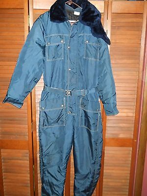 Vintage Jc Penny Snowmobile Apparel With Hood And Mouth Cover Size Large Tall