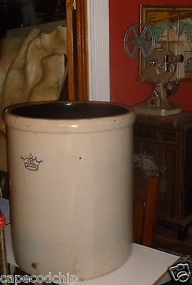 Antique 30 Gallon Ransbottom Crock - Excellent.  RRP Roseville.  Huge & Rare