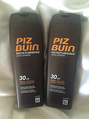 2 X Piz Buin Sun Lotions Spf 30 200Ml New