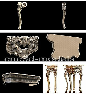 3D Model STL for CNC Router Engraver Carving Artcam Aspire Furniture Table 027