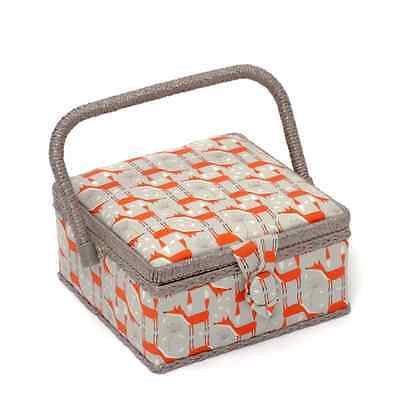 Fun Fox Classic Small Square Sewing Craft Hobby Basket