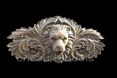 3D Model STL for CNC Router Engraver Carving Artcam Aspire Decor Lion 032