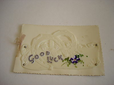 ANTIQUE GREETINGS CARD, CELLULOID FRONT, c.1905 (A)