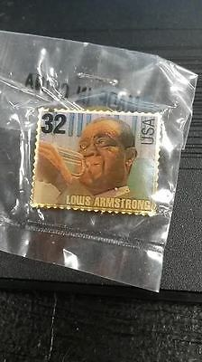 1995 Mcdonalds African American Heritage Louis Armstrong Usps Stamp Pin