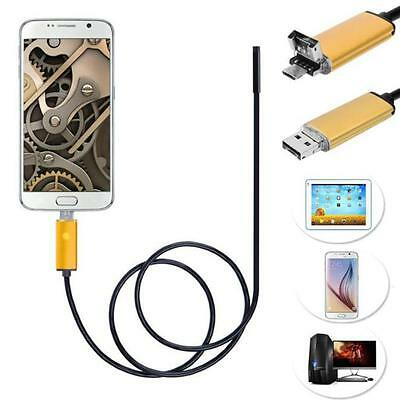2 in 1 Android USB Endoscope Inspection Camera 6 LED HD IP67 Waterproof 1M