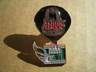 Vintage 1991 Arby's Official Metal Lapel Hat Pin Badge-Kentucky Derby Fest-RARE