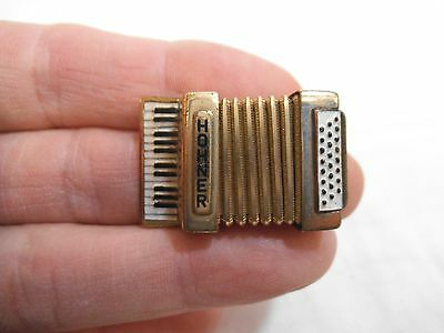 """Vintage Hohner Accordion Advertising Miniature Pin Brooch-Made in Germany -1.25"""""""