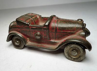Vintage Dent Cast Iron Ford Model A Roadster Toy Car
