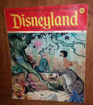 1972 DISNEYLAND Magazine #9 VG/FN Fawcett 20 pgs. Jungle Book Peter Pan