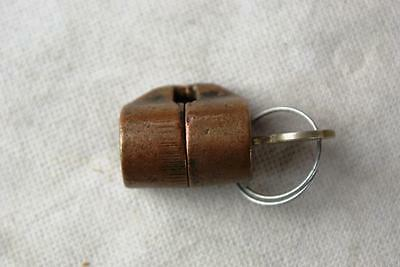 Columbus Or Northwestern Gumball Machine Barrel Lock With Key Works Gum Penny
