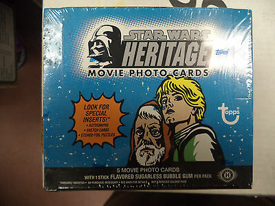 Topps Star Wars Heritage Hobby Box 36 Pack/5 Card Per Pack