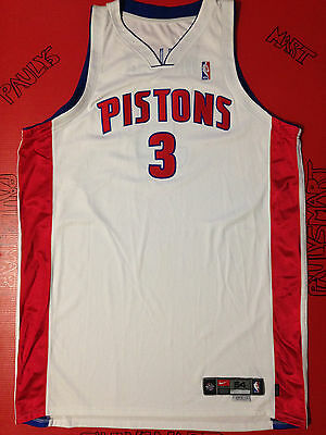 Authentic Ben Wallace Detriot Pistons Nike Game Used Worn Jersey Signed Jordan