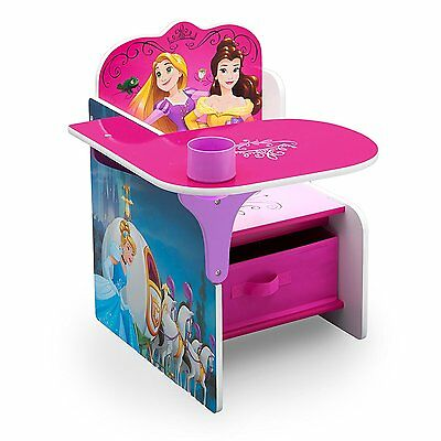 Delta Ariel Rapunzel etc. Princess Desk Chair Toy Storage Bin Box Organizer NEW