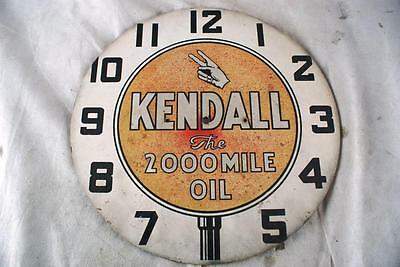 Kendall Motor Oil The 2000 Mile Oil Clock Face Original Gas Gasoline As Sign