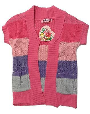New size 4T BABY GIRLS TODDLER PINK OPEN TRENDY CARDIGAN SWEATER JACKET