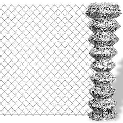 Galvanised Steel Wire Fencing Chain Link Fence 15x2m Roll Mesh Garden Patio