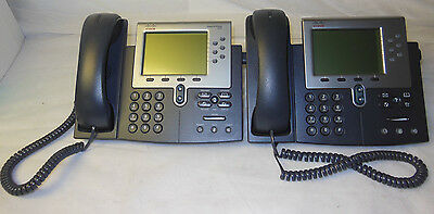 LOT of 2 Cisco CP- 7962 Unified VOIP IP Business Display Phone