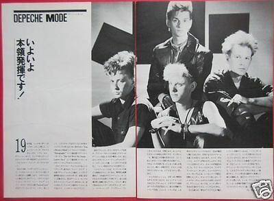 DEPECHE MODE Martin Gore Dave Gahan 1985 CLIPPING JAPAN MAGAZINE ML 1A 3PAGE