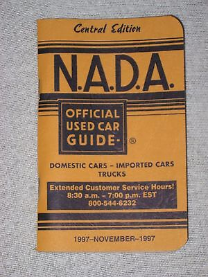 NADA OFFICIAL USED CAR GUIDE ~ November 1997~ Central Edition / Chevy Ford Dodge