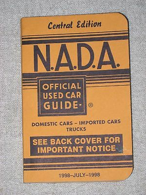 NADA OFFICIAL USED CAR GUIDE ~ JULY 1998 ~ Central Edition  / Chevy Ford Dodge
