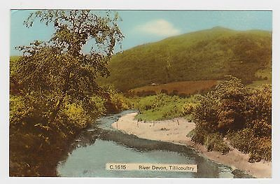 Great Old Card Of The River Devon Tillicoutry Scotland