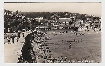 Great Old Real Photo Card Of East Looe From Banjo Stone Pier Cornwall 1956