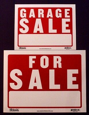 A3 Large FOR SALE / A4 GARAGE SALE House Wall Sign Plastic Waterproof 305x405mm