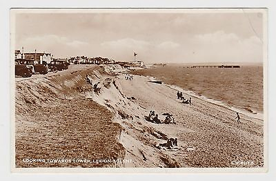 Great Old Real Photo Card Of Lee On Solent Portsmouth Hampshire 1954 Cancel