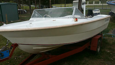 Haines hunter runabout with 70hp Johnson ready to go